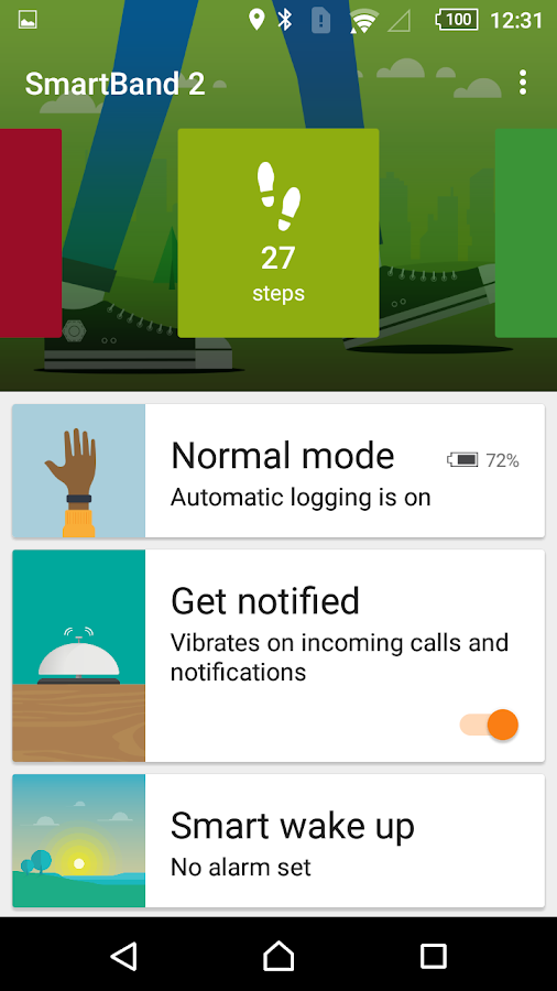 SmartBand 2 SWR12- screenshot