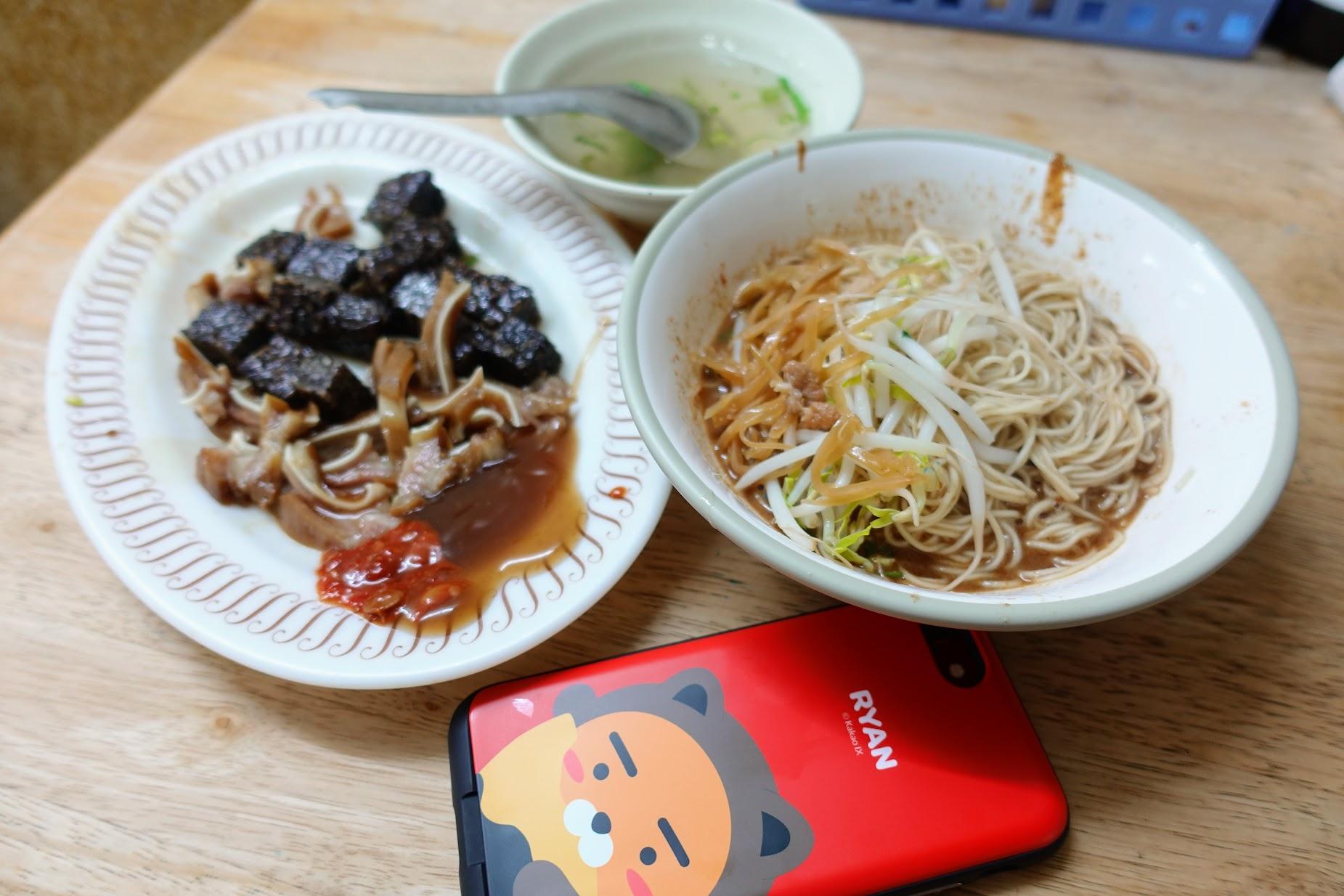 麻醬麵+小菜+清湯