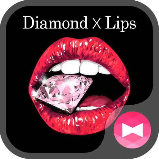 Cute Wallpaper Diamond x Lips Theme Icon