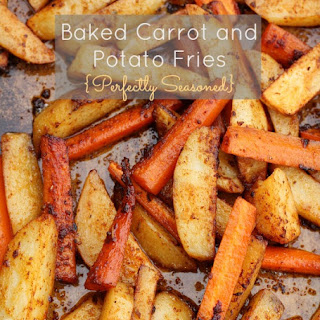 Baked Carrot and Potato Fries {Perfectly Seasoned}