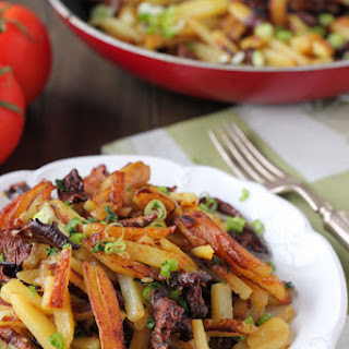 Pan Fried Potatoes with Mushrooms and Onions Recipe
