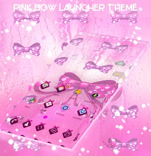 Pink Bow Launcher Theme - náhled