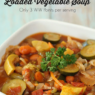 Weight Watchers' Loaded Vegetable Soup Recipe (full of protein and fiber).