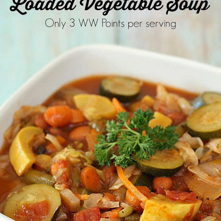 Weight Watchers' Loaded Vegetable Soup Recipe (Full of Protein and Fiber) Recipe