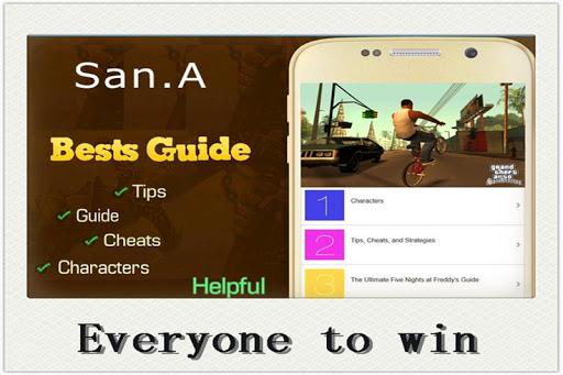 Tips for GTA SanAndreas