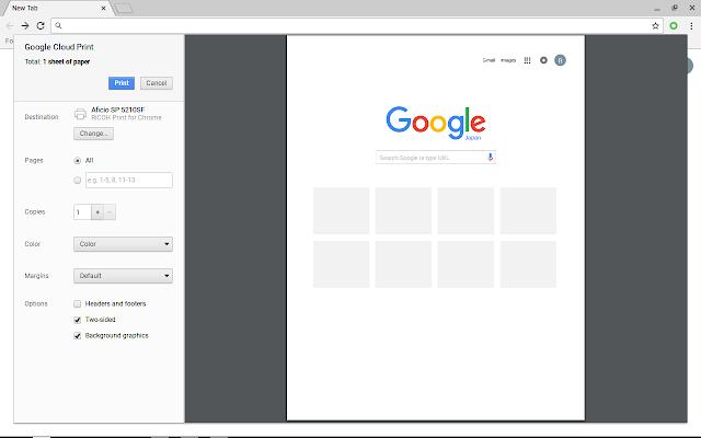 RICOH Print for Chrome