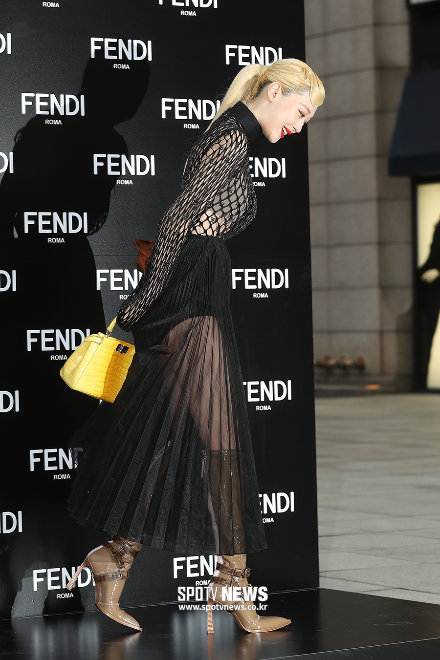 sulli seethrough dress 6