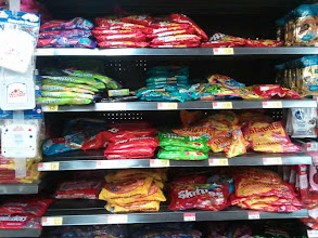 Photo: I looked in the candy aisle because I had heard that they made tropical smarties but no luck.