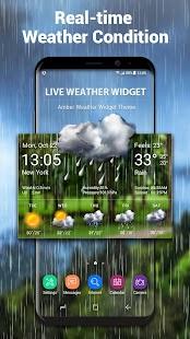 Bluesky Theme Weather Widget - náhled