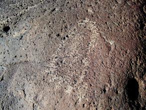 Photo: Footprint petroglyph