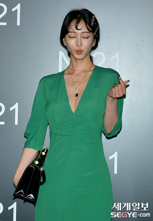 han ye seul green dress 3