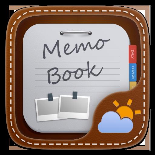 Memo Book Weather Widget Theme