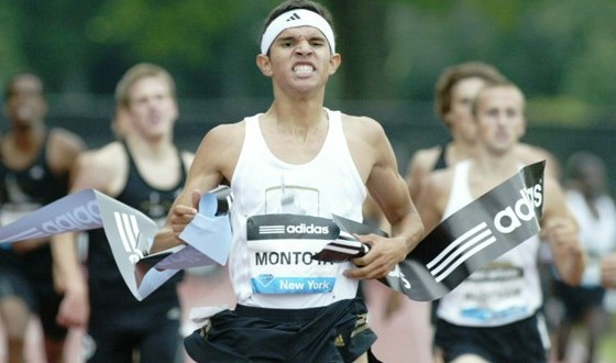 Will Bernie Montoya, shown here winning the adidas Dream Mile last June, be able to take down a great Brooks PR 2M field in his season debut?  Photo by John Nepolitan