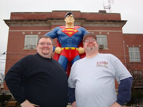 Photo: While Bobby hams for the camera, Superman and I watch for trouble!