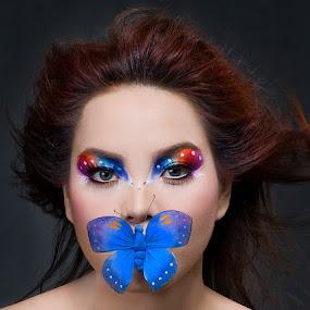 Butterfly by Ariel Salupan - People Portraits of Women ( face, people )
