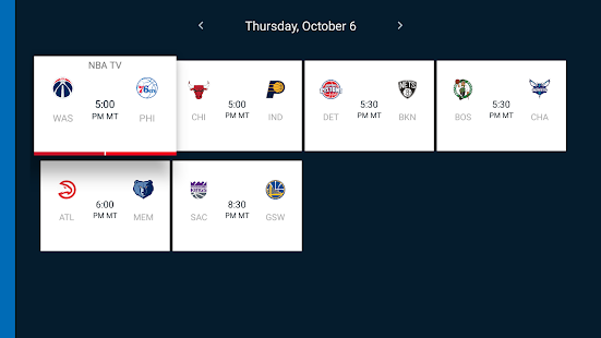 NBA for Android TV- screenshot thumbnail