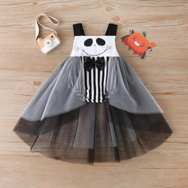 "Baby Girl Halloween ""Jack Skellington"" Layer Dress"