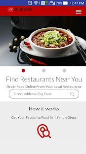 Sprigrer Online Food Delivery - náhled