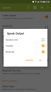 Speaki - Voice Notifications Screenshot