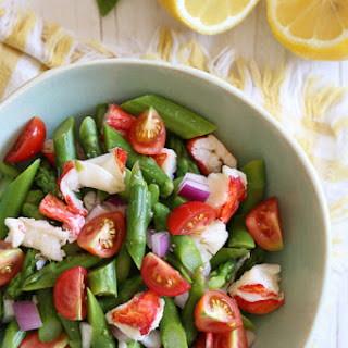 Lobster Asparagus Chopped Salad.