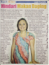 Photo: (Harian Pagi) Tribun Jogja article from Yogyakarta, Central Java, Indonesia  December 17 2012  Here's a great online write up from the same day and another reporter: http://nasional.kompas.com/read/2012/12/18/18101977/Hidup.Lebih.Nyaman.Menjadi.Vegan  Use Google Translate for English speakers: http://translate.google.com/  There were 8 reporters from various newspapers in Jogja & Magelang, Central Java, Indonesia who interviewed me on the day about being vegan, my adventures in SE Asia and the upcoming events I was speaking and giving food demos at.