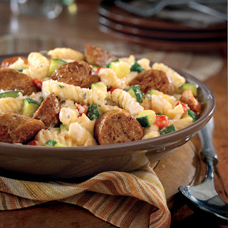 Italian Sausage with Pasta and Herbs.