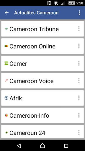 Actualités Cameroun