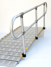 Photo: Loops can be added to the end of handrails for an added cost.