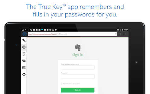 True Key™ by Intel Security- screenshot thumbnail
