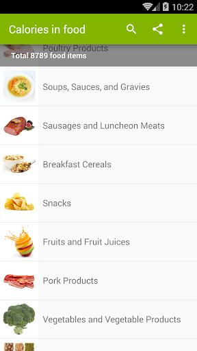 Calories in food Apk 2