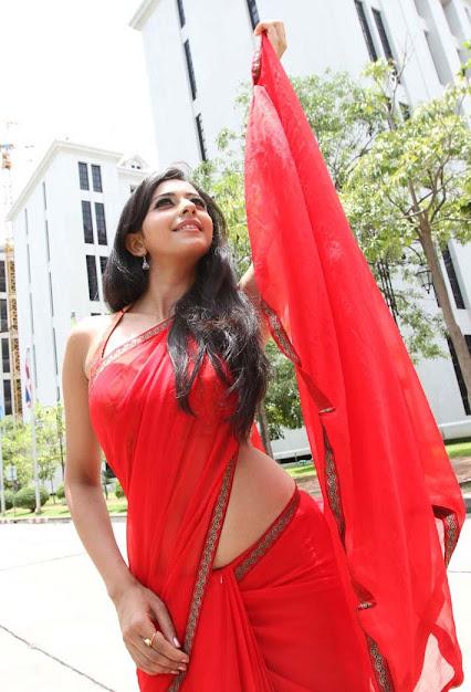 Rakul Preet Singh in red saree, Rakul Preet Singh hot movie scene