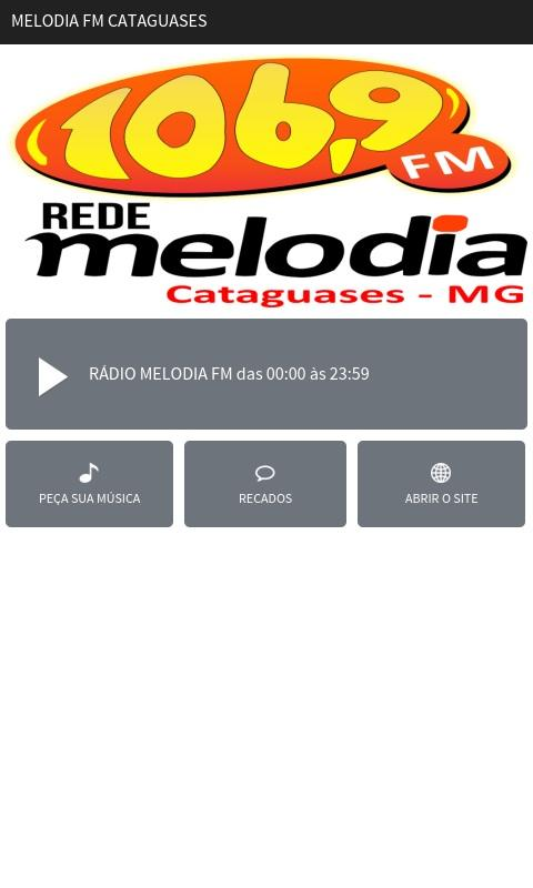 Melodia FM Cataguases- screenshot