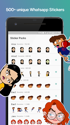 Characters Stickers - WAStickerApps Stickers 1.7.8 screenshots 1