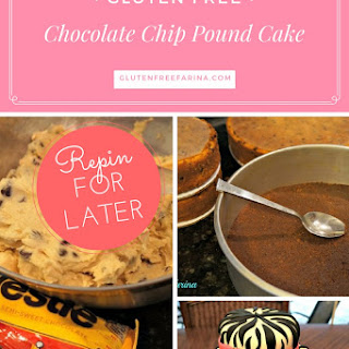 Gluten Free Chocolate Chip Pound Cake with Brown Sugar Buttercream