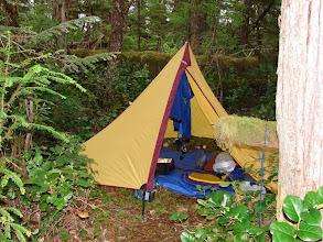 Photo: Campsite in Rescue Bay on Susan Island.