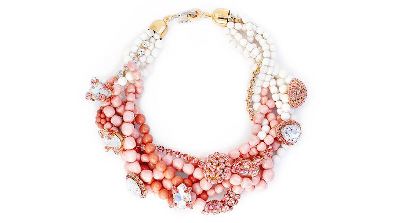 Photo: NECKLACE MADE WITH SWAROVSKI ELEMENTS (ROSE PEACH)