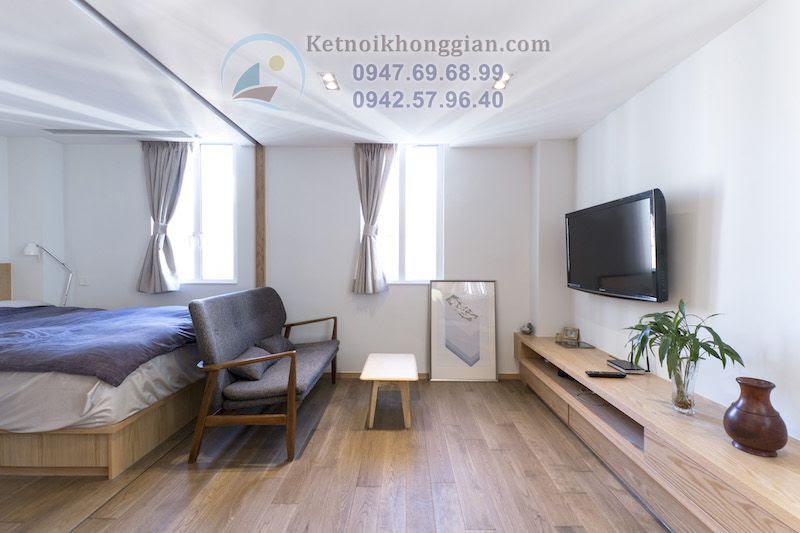 thiết kế nội thất căn hộ hợp lý khiến không gian thoáng