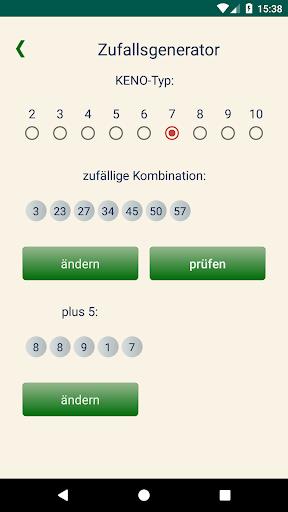 Keno DE  Statistik von Kombinationen 1.1.2 5