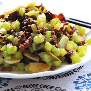 Tasty Ground Beef And Celery.