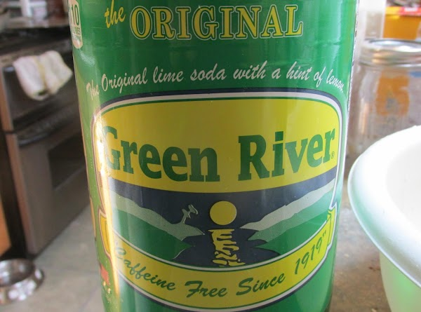 Substitute Green River soda, or any Lemon Lime soda for the water.