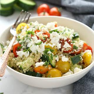 Greek Couscous Salad Lunch Bowls.