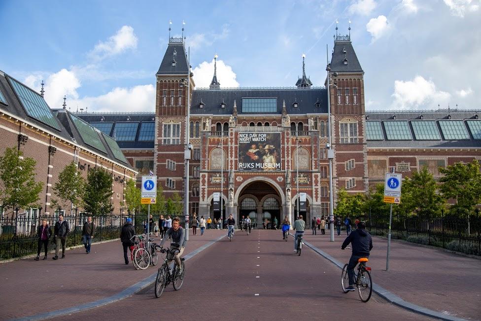 rowery, Rijksmuseum, ścieżka rowerowa