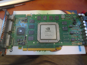 Photo: The dead card disassembled and cleaned