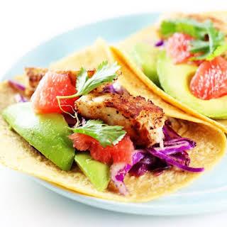 Grapefruit & Avocado Fish Tacos.