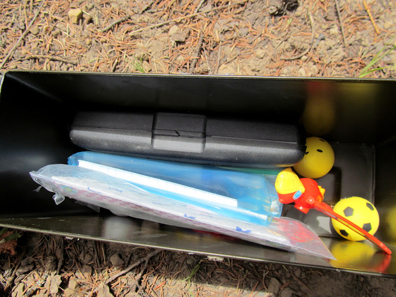Photo: The geocache contents are mostly safe