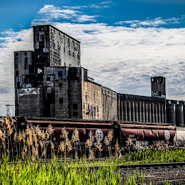 Old grain elevator by Paul Drajem - Buildings & Architecture Decaying & Abandoned ( factory, old, buildings, abandoned, landscape, grain elevator, architecture,  )