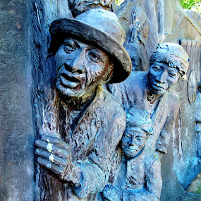 Underground Railroad monument by JoAnn Palmer - Buildings & Architecture Statues & Monuments ( underground railroad, sculptures, monuments, statues )