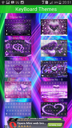 Purple Love keyboard