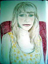 """Photo: Portrait of Alberta Colored Pencil on BFK Rives 29"""" x 22"""""""