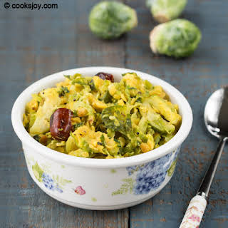 Brussels Sprouts Dal (Lentil) Curry.